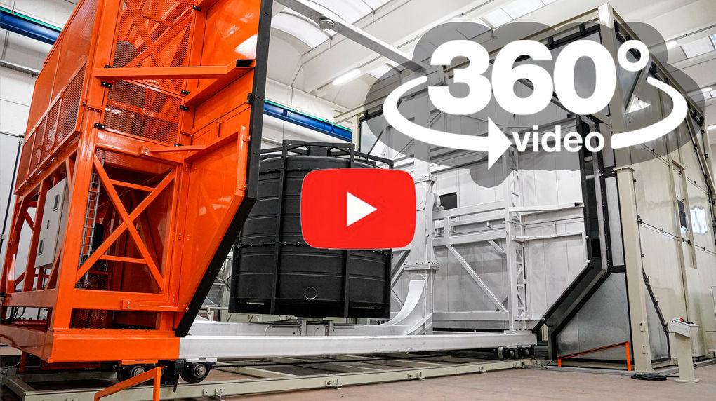 video 360 VR stampaggio rotazionale
